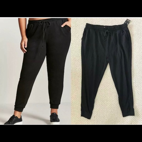 Forever 21 Pants - Forever 21 Plus Joggers Pants Black 2X New NET